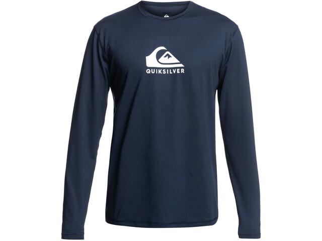 Quiksilver Solid Streak LS Surf Tee Men navy blazer